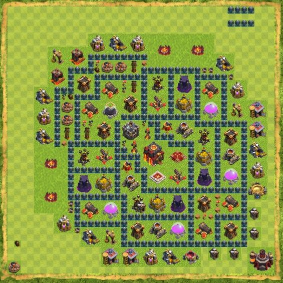 Base Defense Coc Th 10 16