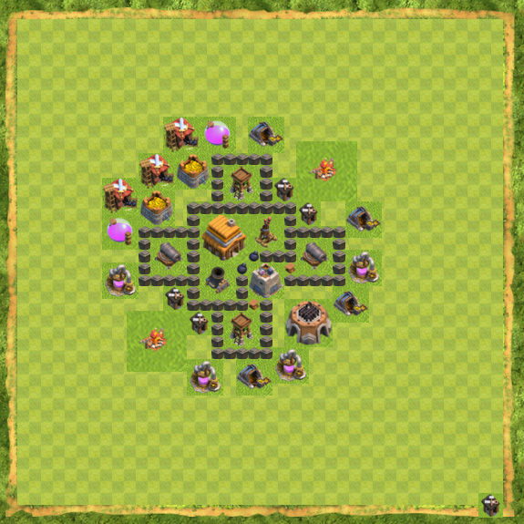 Base Defense Coc Th 4 11
