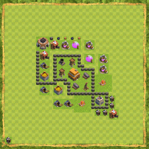 Base Defense Coc Th 4 4