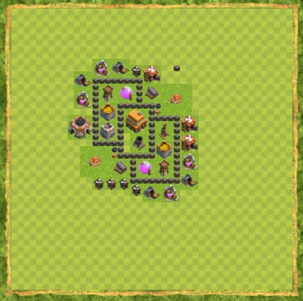 Base Defense Coc Th 4 Terbaru 8