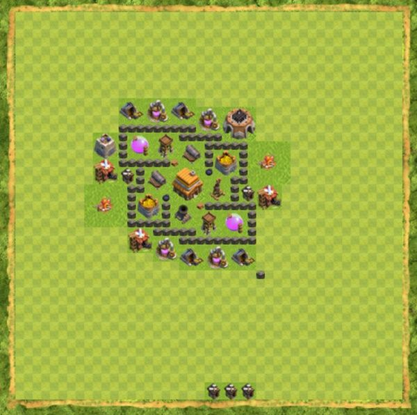 Base Defense Coc Th 4 Terbaru 9