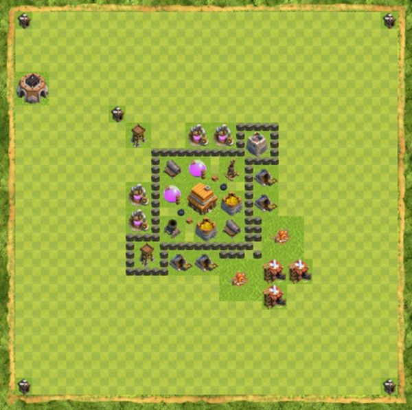 Base Hybrid Coc Th 4 Terbaru 1