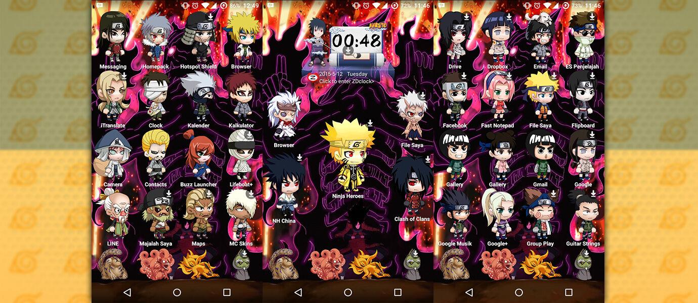 Cara Mudah Pakai Tema Naruto Di Semua HP Android