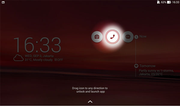 Asus Fonepad7 Lockscreen