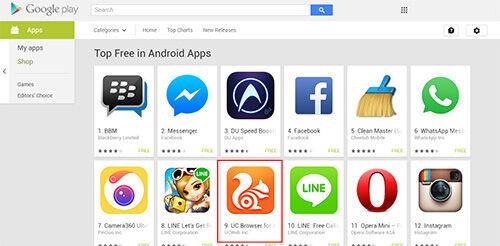 Uc Browser Android Masuk Top 10 Free Di Google Play Store