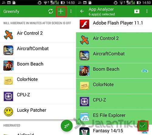 Cara Menambah Ram Android Dengan Hibernasi Aplikasi Menggunakan Greenify 4