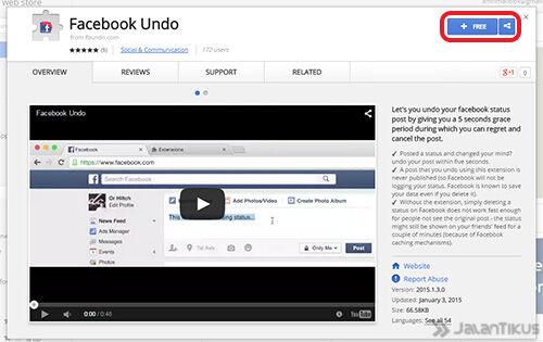Facebook Undo 1