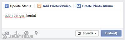 Facebook Undo 3