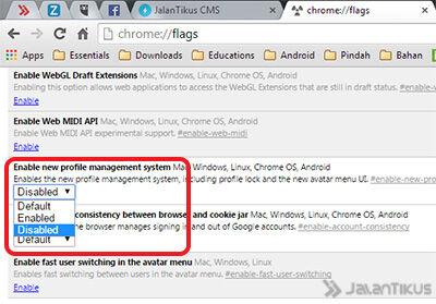 Cara Menghilangkan Tombol Nama Di Chrome Baru 3