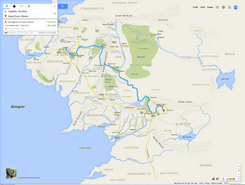 Middle Earth Google Maps 1