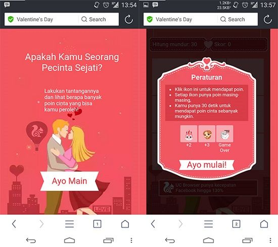 Uc Browser Valentines Day Game 2