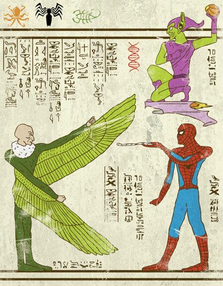 7 Wujud Superhero Yang Digambar Dengan Gaya Mesir Kuno 7