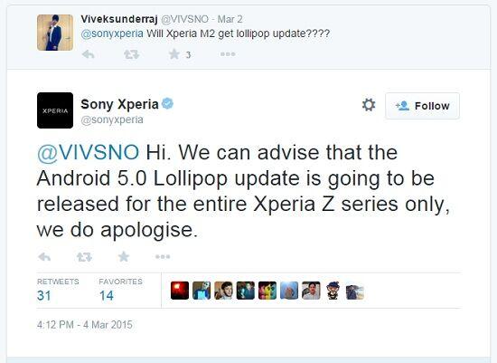 Tidak Ada Update Lollipop Untuk Sony Xperia Selain Seri Z 1
