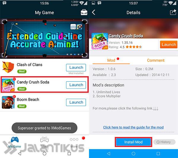 Cheat Candy Crush Soda Saga Dengan Xmodgames 1