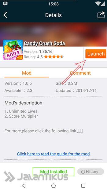 Cheat Candy Crush Soda Saga Dengan Xmodgames 2