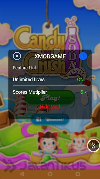 Cheat Candy Crush Soda Saga Dengan Xmodgames 3