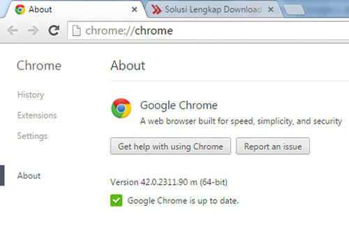 Update Google Chrome 42