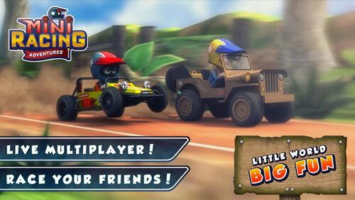 Mini Racing Adventure Game Multiplayer 3d
