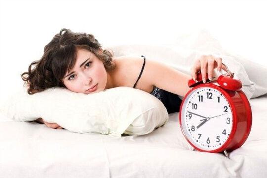 woman wake up