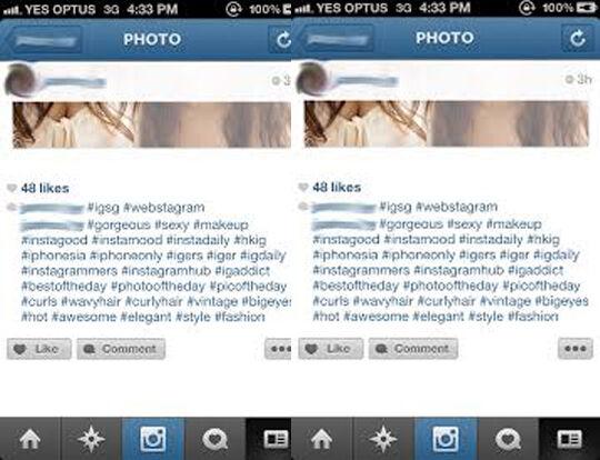 Instagram Obral Hashtag