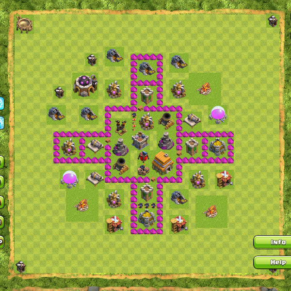 Formasi Base Town Hall 6-10 Clash of Clans (COC) Terbaik ...