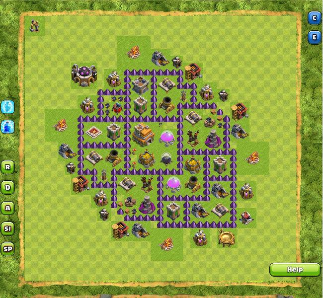 Pics photos failzoom clash of clans best th 7 hybrid base