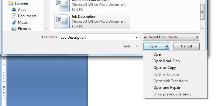 Cara Buka File Ms Word Read Only 2