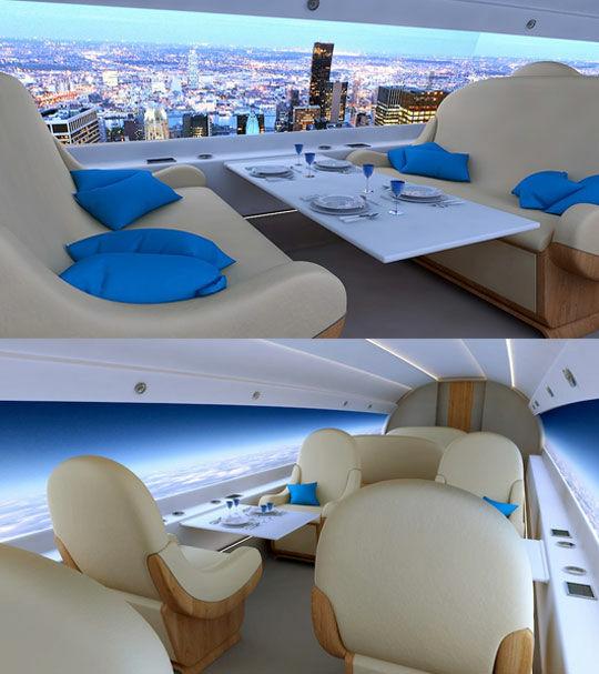 Interior Supersonic Jet
