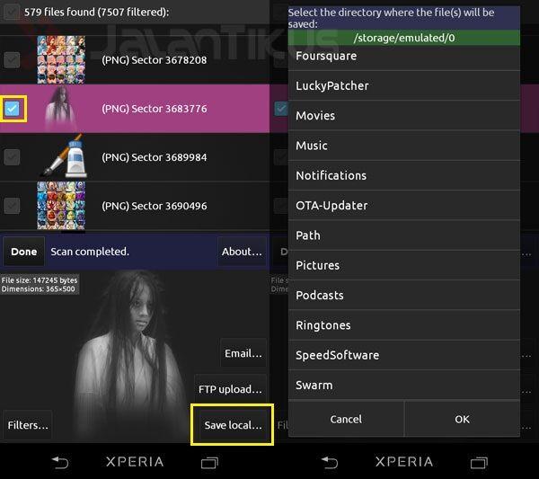 Mengembalikan File Android Hilang Dan Terhapus Di Android 3