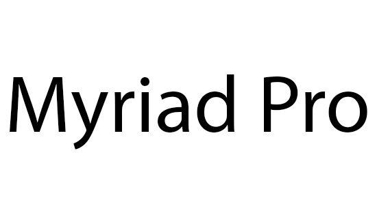 Myriad Pro