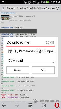 Download Video Youtube Di Opera Mini 5