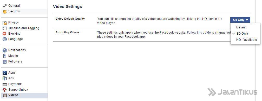 Mematikan Fitur Autoplay Video Facebook 3
