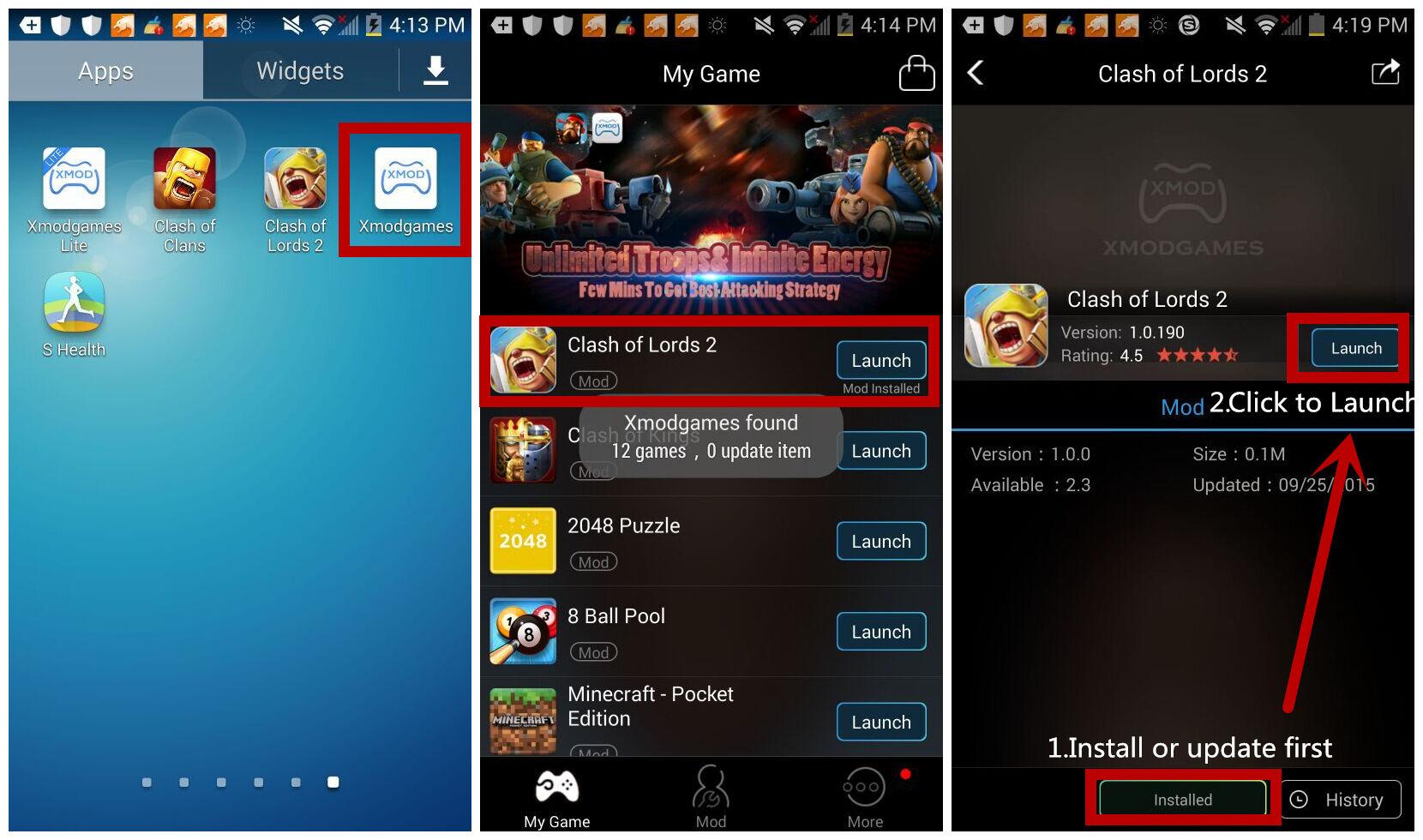 MOD Baru Clash of Lords 2 di Android dengan Xmodgames