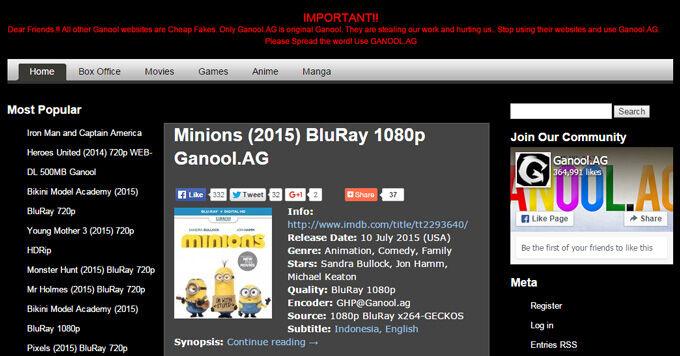 Ganool buka lagi dengan domain baru tips trik dan informasi domain website baru ganool reheart Image collections