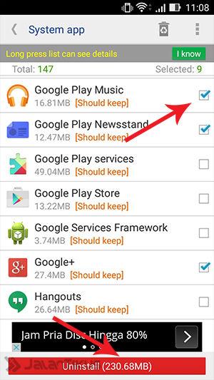 Menghapus Aplikasi Bawaan Android 2