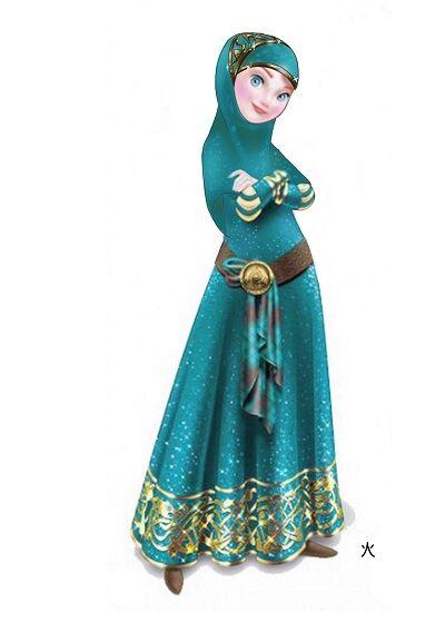 Karakter Disney Berhijab 8