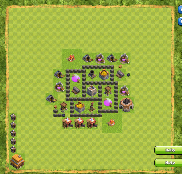 Base Farming Coc Th 4 1