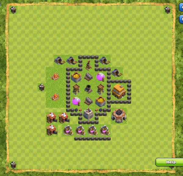 Base Farming Coc Th 4 11