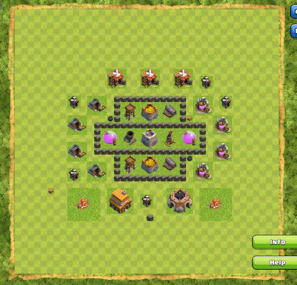 Base Farming Coc Th 4 12