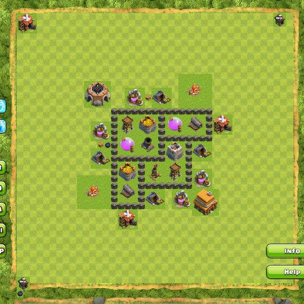Base Farming Coc Th 4 27
