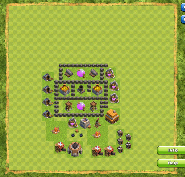 Base Farming Coc Th 4 3
