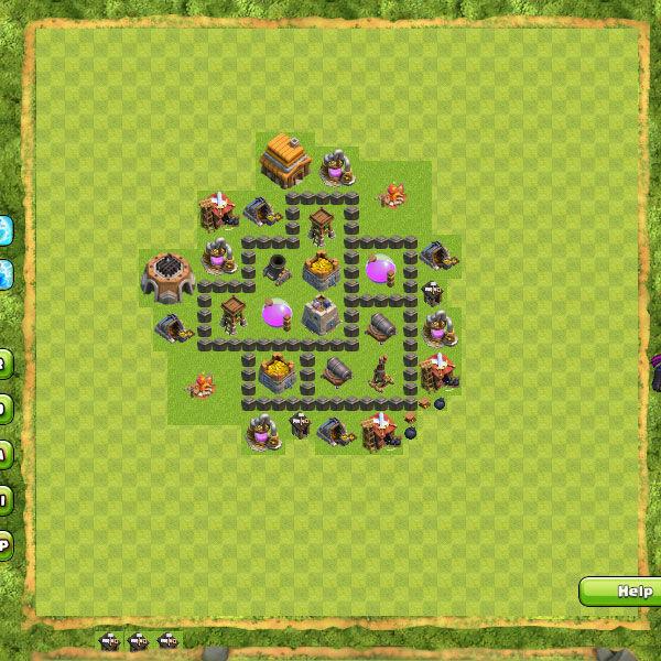 Base Farming Coc Th 4 30