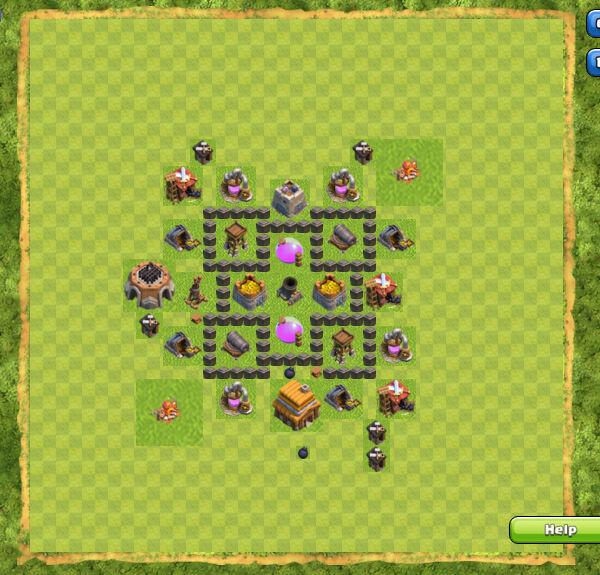 Base Farming Coc Th 4 8