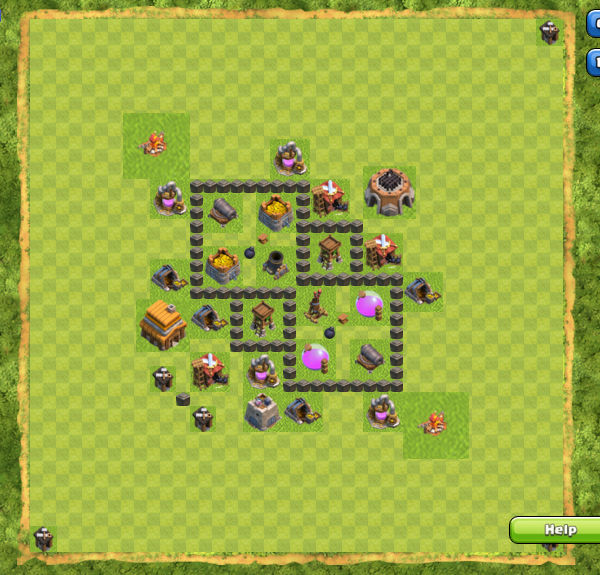 Base Farming Coc Th 4 9