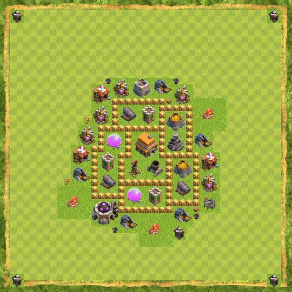 Base Defense Coc Th 5 33