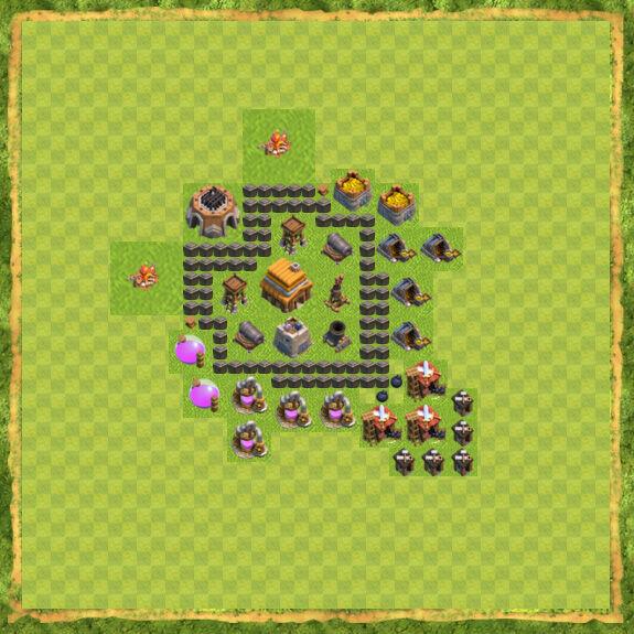 Base War Coc Th 4 22