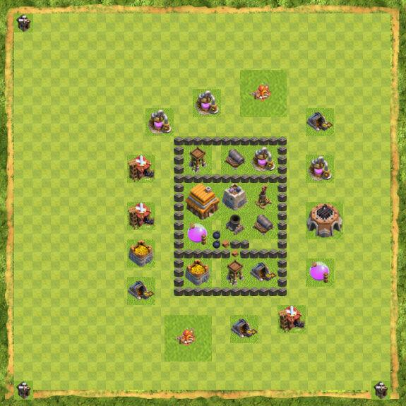 Base War Coc Th 4 25