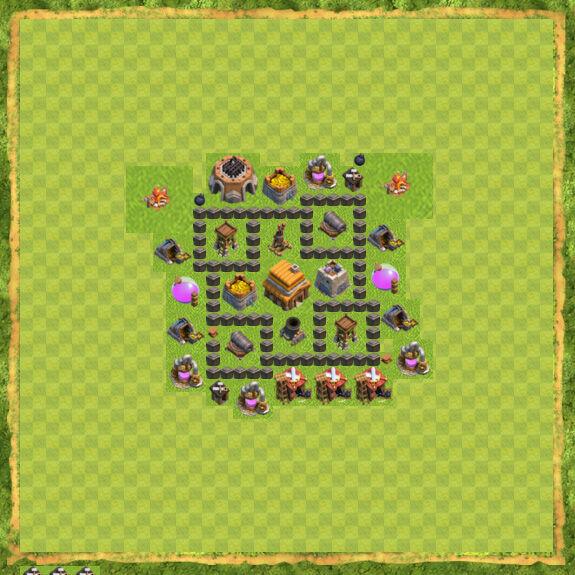 Base War Coc Th 4 27