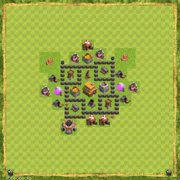 Base War Coc Th 4 30