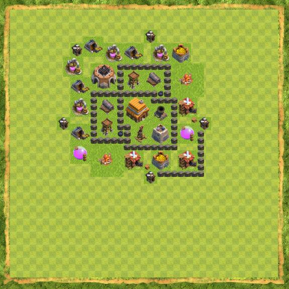 Base War Coc Th 4 32